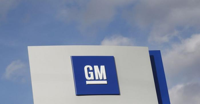 FILE PHOTO: The GM logo in Warren Michigan