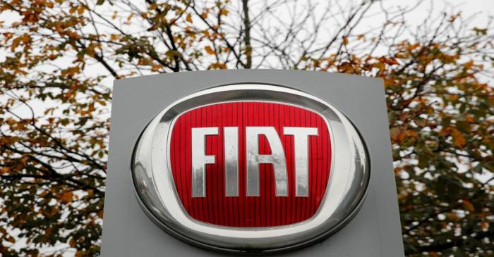 FILE PHOTO: Logo of car manufacturer Fiat is seen in Zurich
