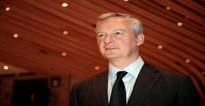 FILE PHOTO: French Economy Minister Bruno Le Maire arrives for the 34th annual dinner of the