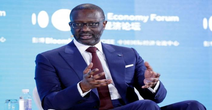 FILE PHOTO: CEO of Credit Suisse Group Tidjane Thiam attends the 2019 New Economy Forum in