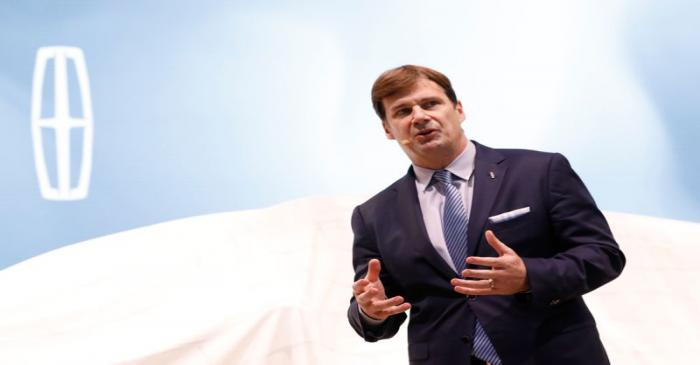 Ford's Farley speaks at the New York Auto Show in New York