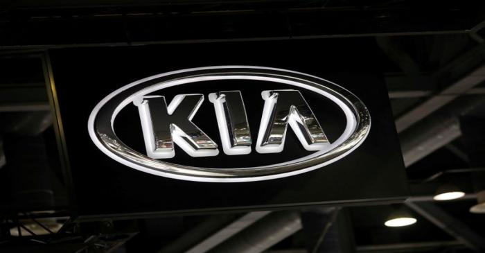 FILE PHOTO: The logo of Kia Motors is seen during the 2019 Seoul Motor Show in Goyang