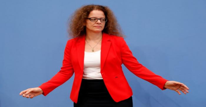 Member of the German advisory board of economic experts Isabel Schnabel poses ahead of a news