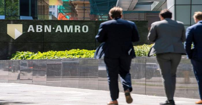 ABN AMRO logo is seen at the headquarters in Amsterdam
