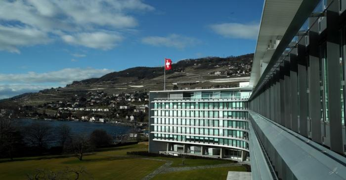 The headquarters of food giant Nestle are pictured in Vevey