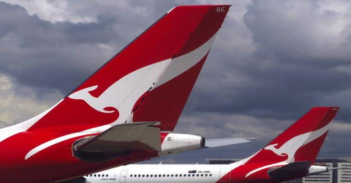 FILE PHOTO:  Two Qantas Airways Airbus A330 aircraft can be seen on the tarmac near the