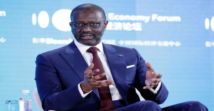CEO of Credit Suisse Group Tidjane Thiam attends the 2019 New Economy Forum in Beijing