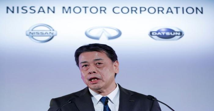 Nissan Motor Co CEO Makoto Uchida speaks during a news conference at its headquarters in
