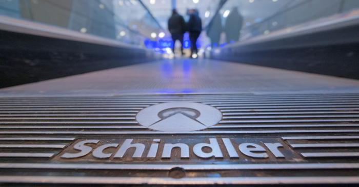 A moving stairway of Swiss elevator maker Schindler is pictured at a mall in Neuss