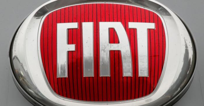 FILE PHOTO: Logo of car manufacturer Fiat is seen in Zurich
