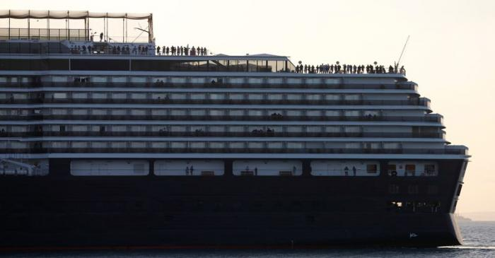 MS Westerdam cruise ship offshore port in Sihanoukville
