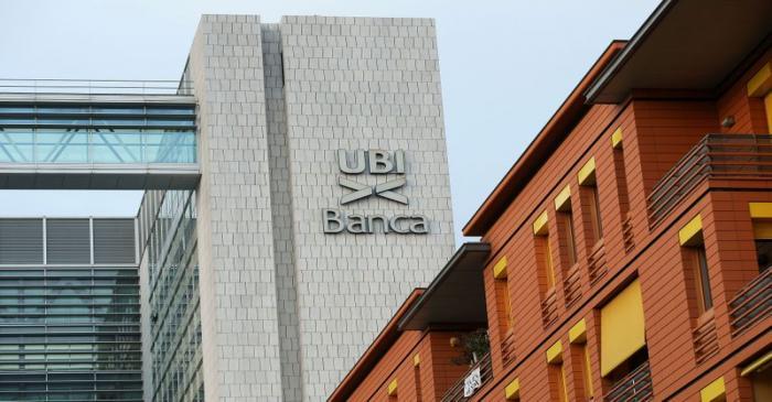 FILE PHOTO: FILE PHOTO: The headquarter of UBI bank is seen in Brescia