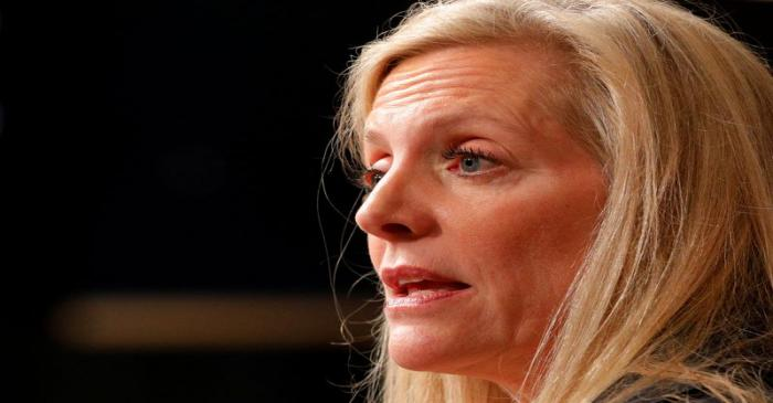 Federal Reserve Board Governor Lael Brainard speaks at the John F. Kennedy School of Government