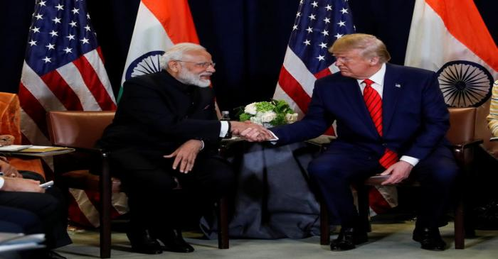 U.S. President Trump meets with India's Prime Minister Modi on sidelines of U.N. General