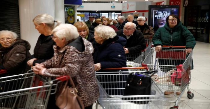 An Iceland store in the Kennedy Centre opening one hour early to allow elderly shoppers to buy