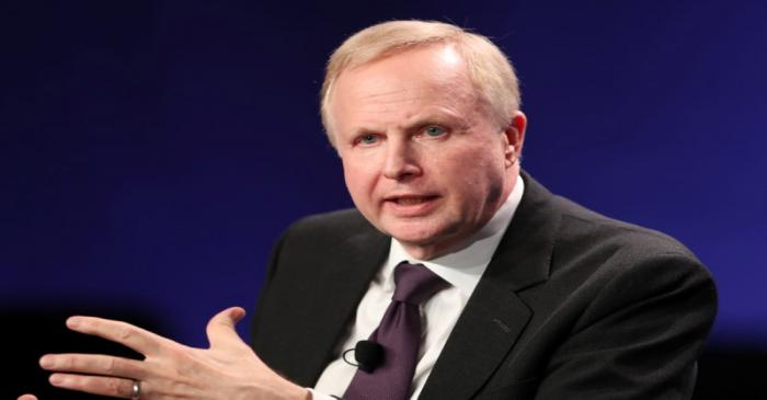 FILE PHOTO: Bob Dudley, Group Chief Executive of BP, speaks at the 2019 Milken Institute Global