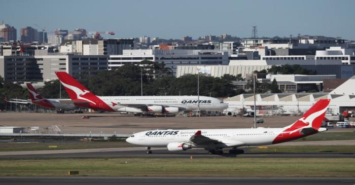 Qantas planes are seen at Kingsford Smith International Airport in Sydney