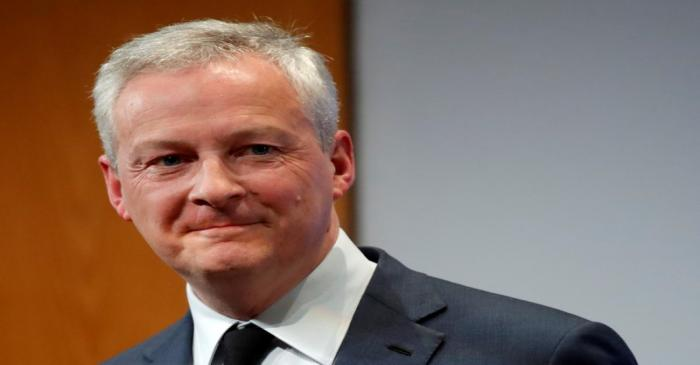 FILE PHOTO: French Finance Minister Le Maire gives New Year's address to economic figures
