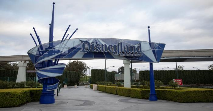 FILE PHOTO:  Walt Disney Co's  Disneyland and California Adventure theme parks in Southern