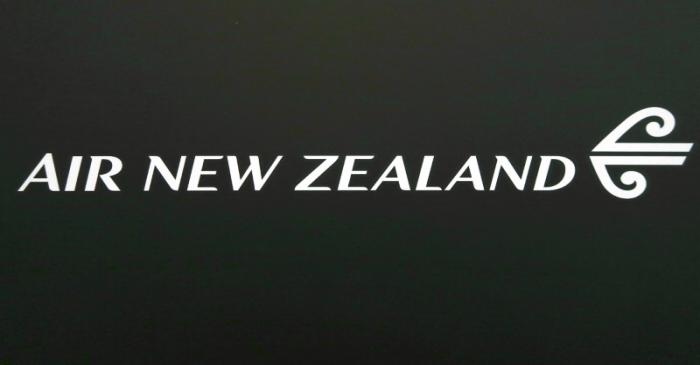 FILE PHOTO: The logo for Air New Zealand is displayed at their office located at Sydney