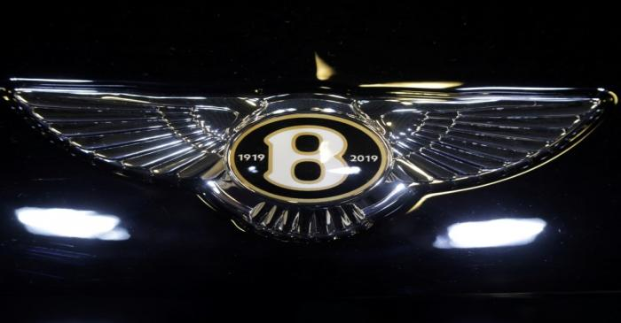 FILE PHOTO: The logo of Bentley carmaker is seen on a car at the Top Marques fair in Monaco