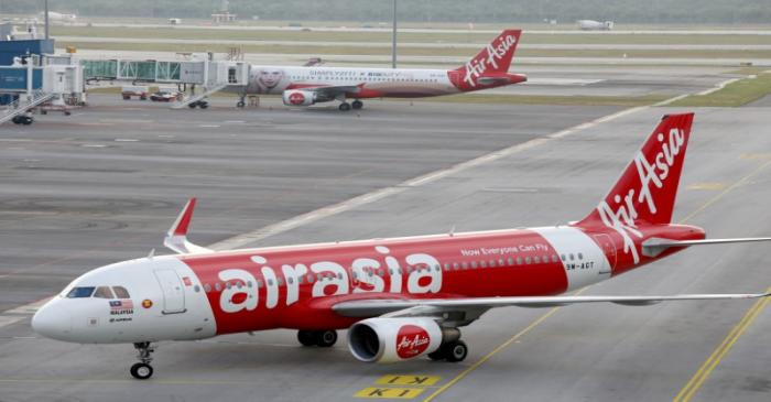 AirAsia planes are seen on the tarmac of Kuala Lumpur International Airport 2 (KLIA2) in Sepang