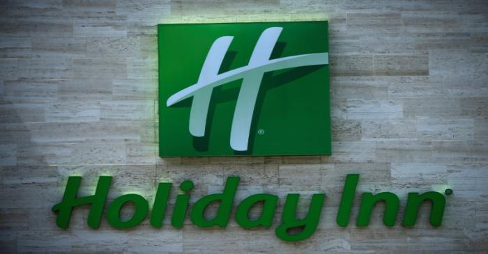 Holiday Inn logo is seen in Tbilisi