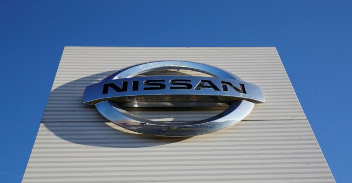 FILE PHOTO:  The Nissan logo is seen at Nissan car plant in Sunderland