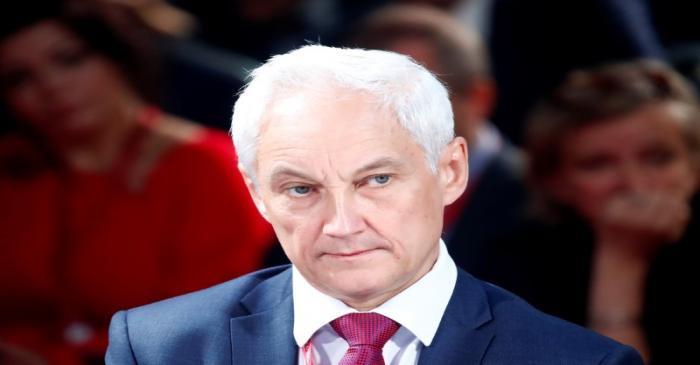 Kremlin aide Andrei Belousov attends the St. Petersburg International Economic Forum
