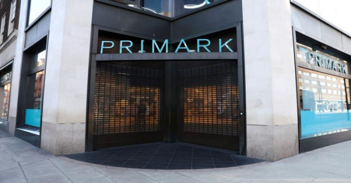 Closed entrance of a Primark store on Oxford Street due to coronavirus disease (COVID-19)