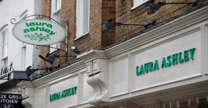 FILE PHOTO: A Laura Ashley store in Windsor is pictured after they filed for Administration