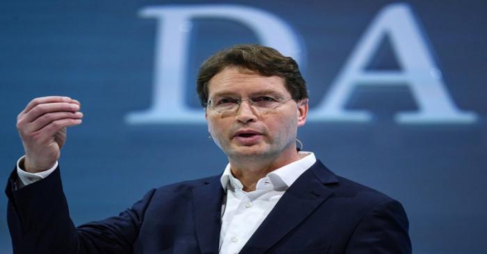 FILE PHOTO:  Ola Kaellenius, CEO of German luxury car manufacturer Daimler AG, speaks at the