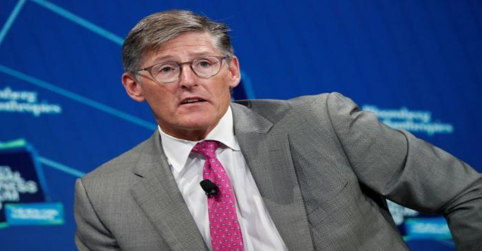 FILE PHOTO:  Michael Corbat, CEO of Citigroup, speaks during the Bloomberg Global Business