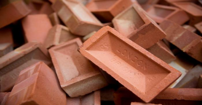 FILE PHOTO: Bricks at the Vauxhall depot of building material supplier Travis Perkins in London