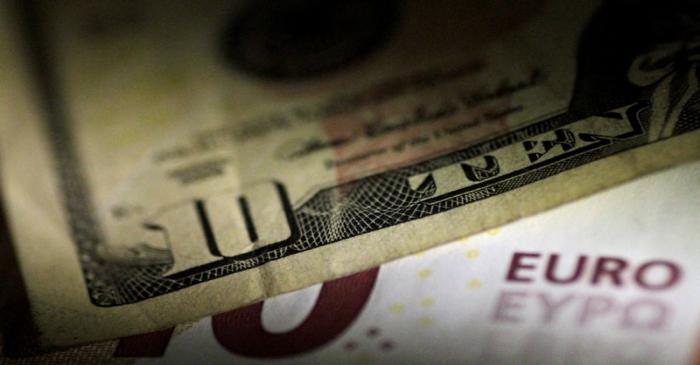 FILE PHOTO: Illustration photo of U.S. Dollar and Euro notes