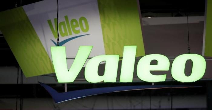 Logo of Valeo is seen at VivaTech fair in Paris