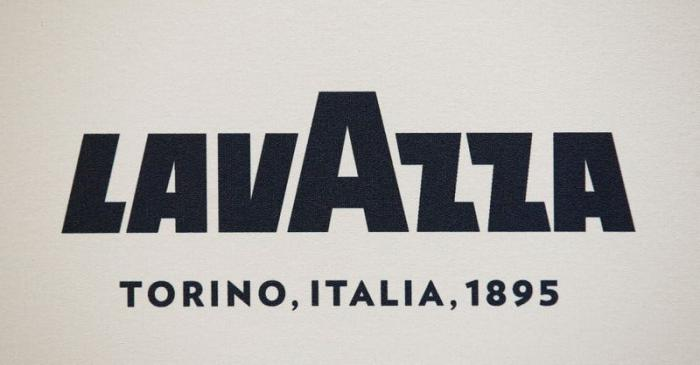 FILE PHOTO: Lavazza coffee logo is seen outside Lavazza's flagship coffee store downtown Milan