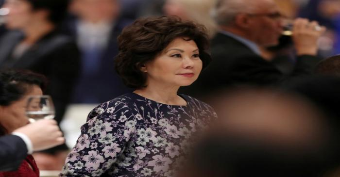 FILE PHOTO: FILE PHOTO: U.S. Transportation Secretary Elaine Chao attends a banquet for Emperor