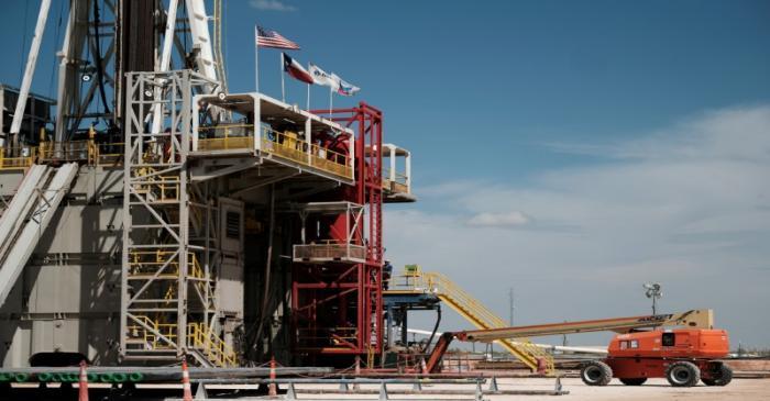 FILE PHOTO: Chevron oil exploration drilling site near Midland