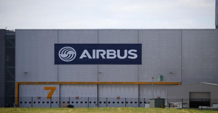 A hangar is seen at Airbus' wing assembly plant at Broughton, near Chester