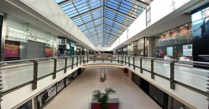 Deserted Intu Shopping Center is seen in Watford