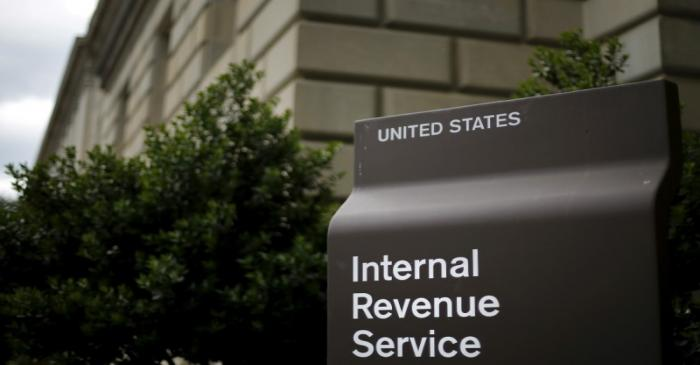 FILE PHOTO: A general view of the U.S. Internal Revenue Service (IRS) building in Washington