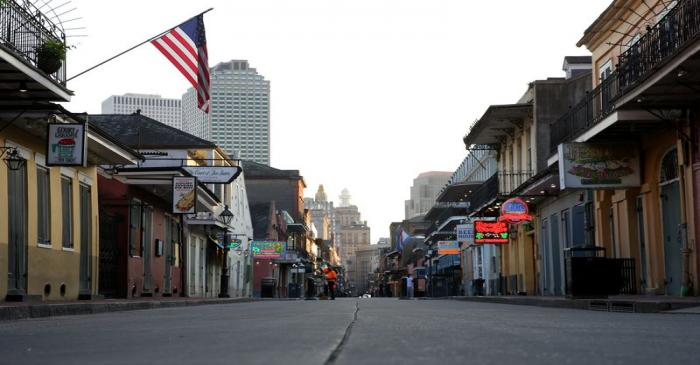 FILE PHOTO: A view of Bourbon Street amid the outbreak of the coronavirus disease (COVID-19),