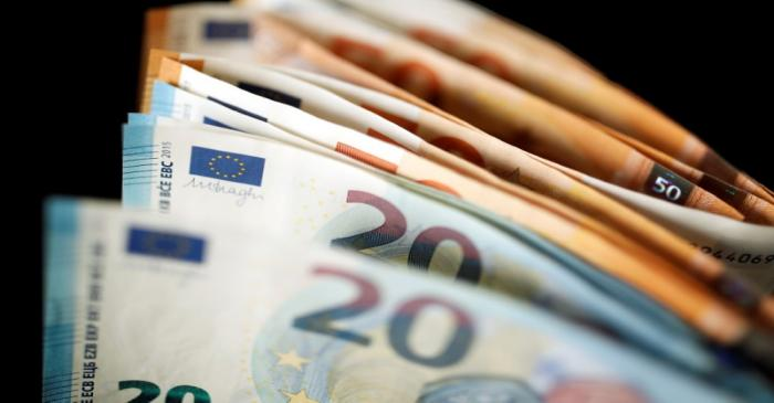 FILE PHOTO: 50 and 20 Euro banknotes are displayed in this picture illustration