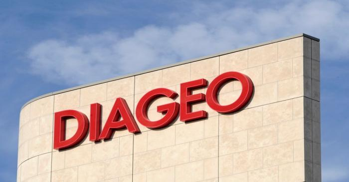 FILE PHOTO: Signage is seen on the outside of Diageo offices in west London