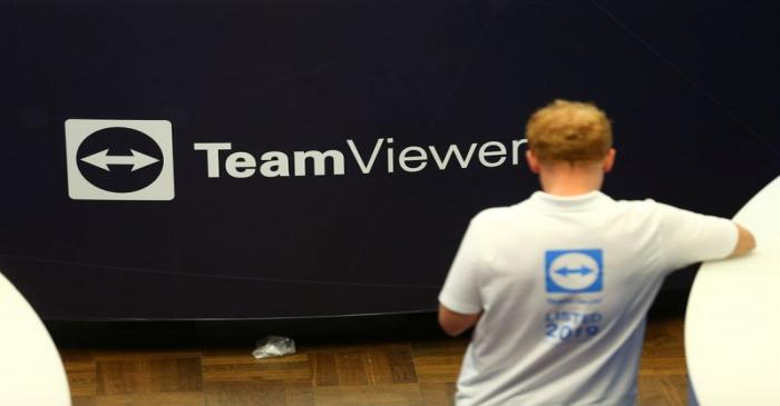 First day of trading of TeamViewer AG in Frankfurt