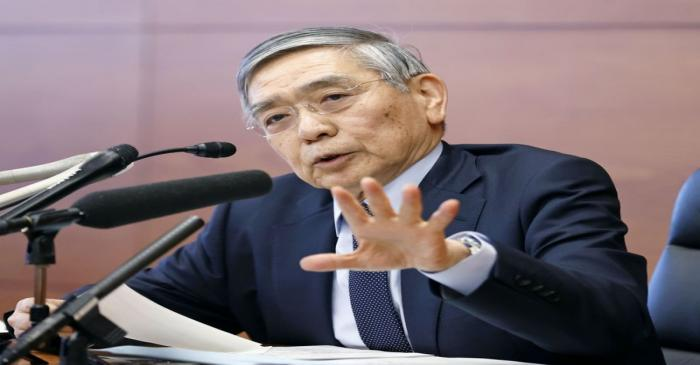 Bank of Japan Governor Haruhiko Kuroda attends a news conference in Tokyo, Japan