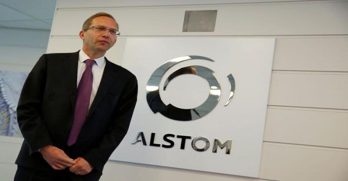 Henri Poupart-Lafarge, Chairman and CEO of Alstom, poses before the company's full year 2016/17