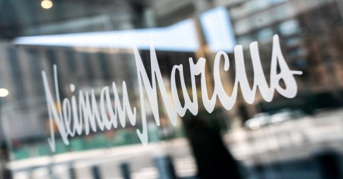 FILE PHOTO: The signage outside the Neiman Marcus store is seen in New York