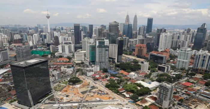 FILE PHOTO: A view of the city skyline in Kuala Lumpur